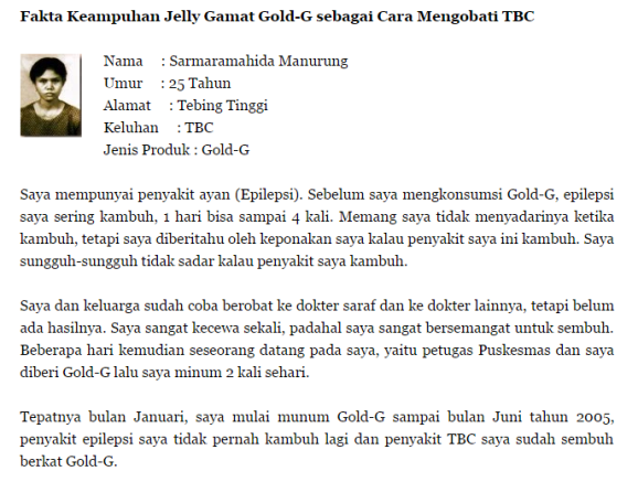 Obat Herbal TBC Jelly Gamat Gold-G